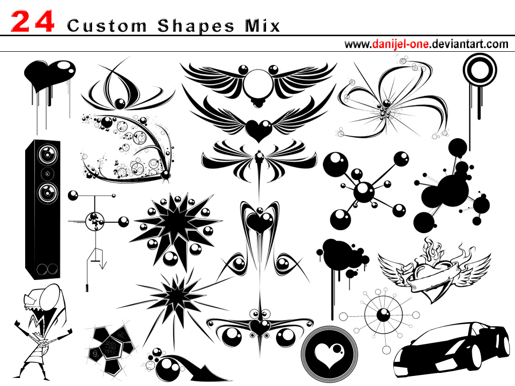 1000+ Free Photoshop Custom Shapes In 40 Sets