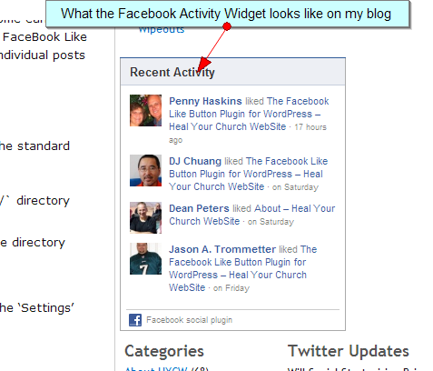 how to add face book like to posts on wordpress.com