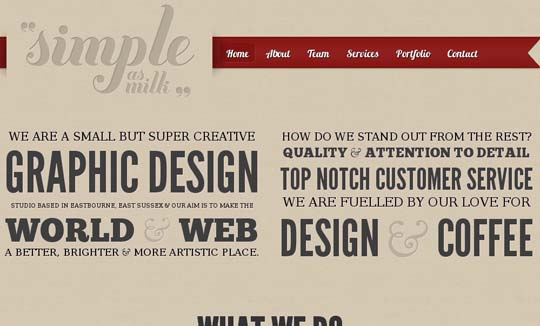big typography websites