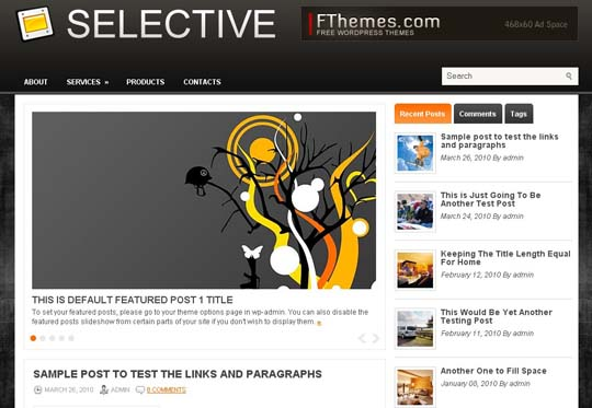 22.free wordpress themes        ( )
