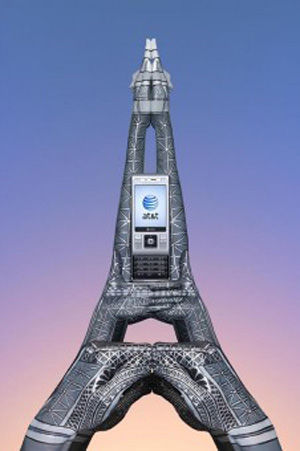 hand painting art Eiffel Tower