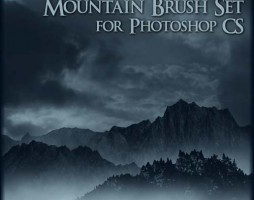 1.photoshop mountain brushes