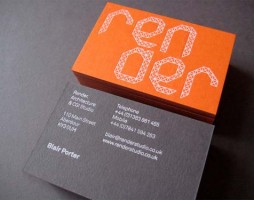 1.typography business cards