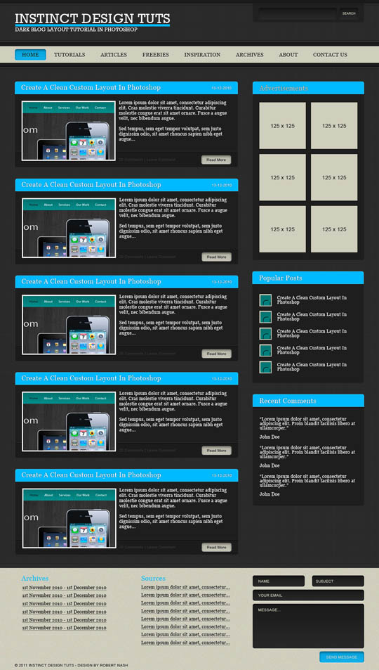 photoshop layout tutorials 2011