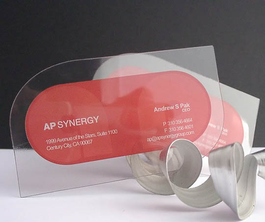 transparent and waterproof business cards