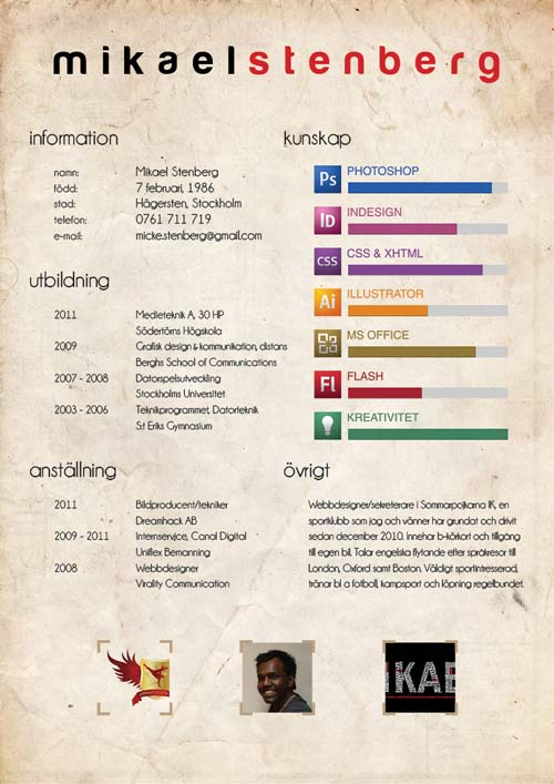35 creative resume design