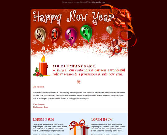 New Year Wishes Email Template  Merry Christmas And Happy New Year