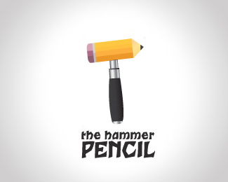 creative use of pencil in logo design