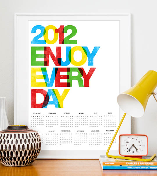 80+ Most Creative 2012 Calendar Design | 1 Design Per Day