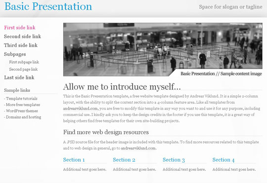 CSS-XHTML  website templates