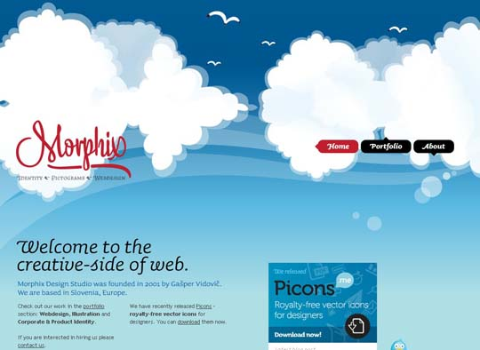 Clouds in Web Design