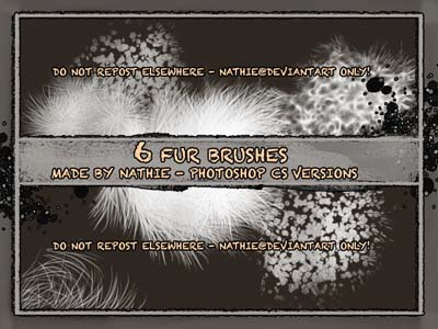 photoshop fur brushes