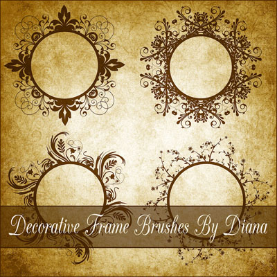 100 free photoshop frame brushes to decorate your designs