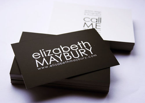 Less Is More Brilliant Minimalist Business Cards