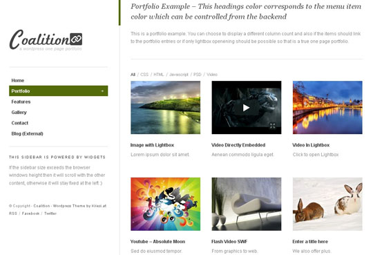 one page wordpress themes