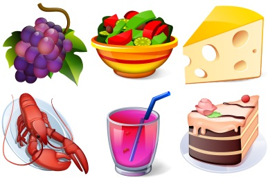Collection of high quality free food and drink icons