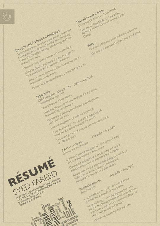 clean and minimal resume designs