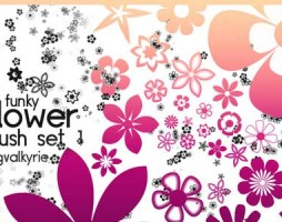 1.photoshop flower brushes