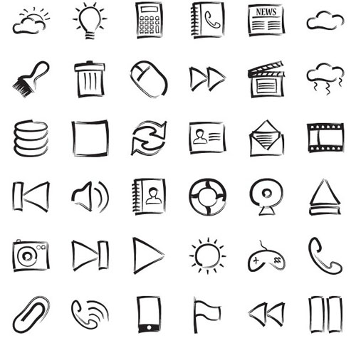 Hand Drawing Line Icons : Ultimate collection of free hand drawn icons excellent