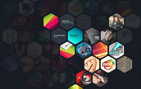hexagon website design