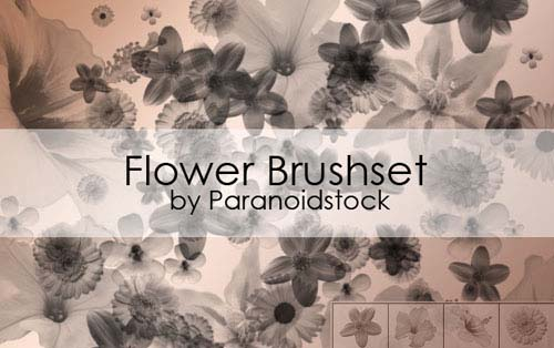 photoshop flower brushes