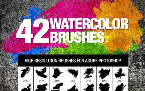 ink and watercolor photoshop brushes