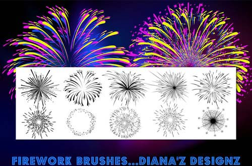how to draw fireworks in photoshop