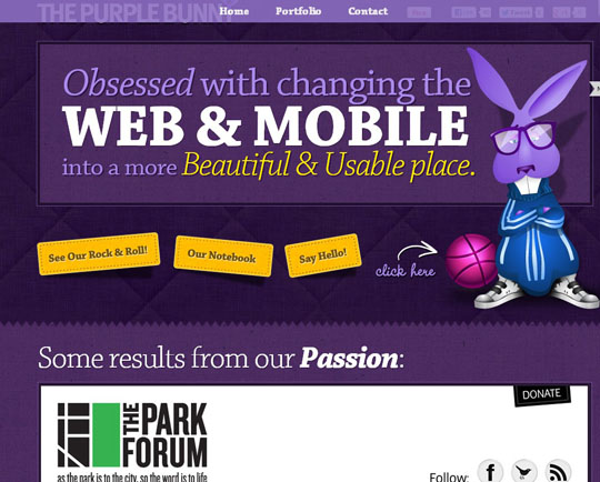 purple websites