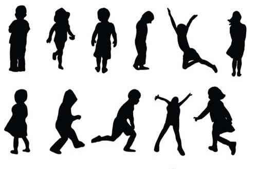 30 Sets Of Free Vector People Silhouettes For Your Next
