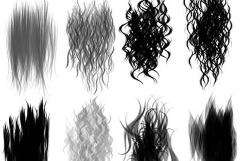 Natural Hair Brushes Photoshop
