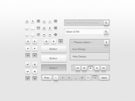 light ui psd
