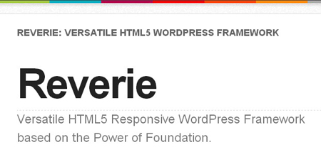html 5 wordpress theme framework