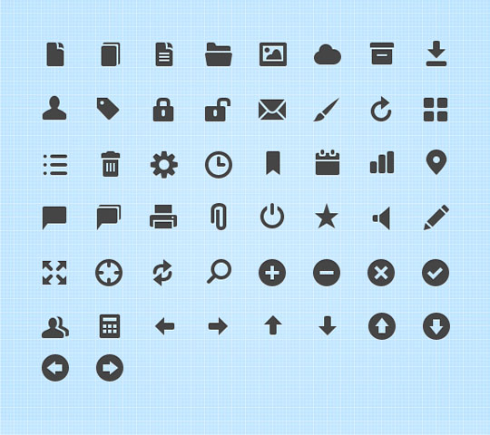 27.free pixel perfect icons