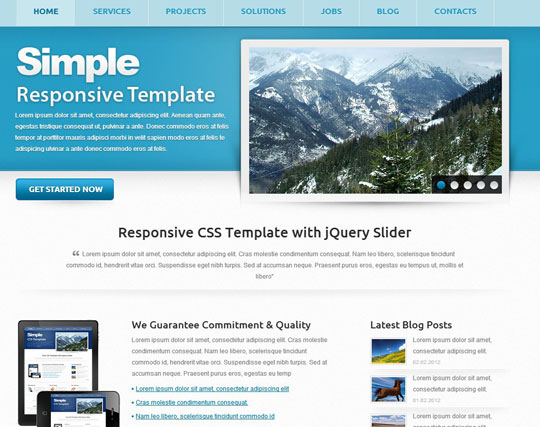 41 totally free responsive html css website templates for Free responsive website templates