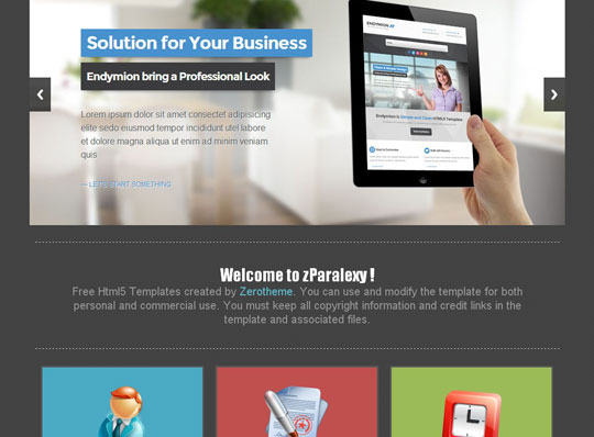 free html5 responsive website templates