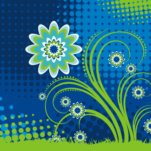 30 Free Colorful Vector Flowers