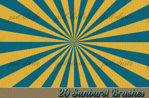 photoshop sunburst brushes