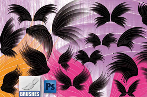 19.photoshop wing brushes