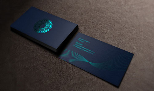 Pilates-foil-stamped-business-card