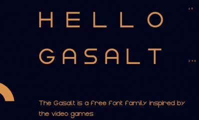 5.Free Font Of The Day  Gasalt
