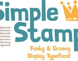 free font simple stamp