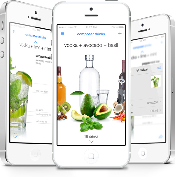 2.Mobile App Design Inspiration – Composer Drinks