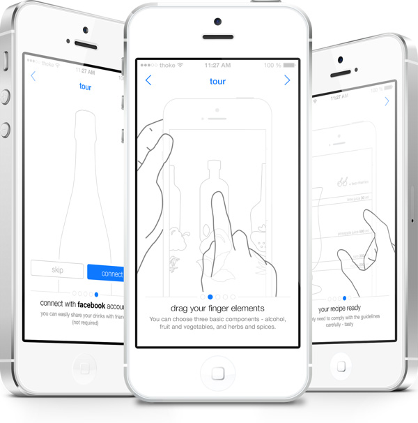 3.Mobile App Design Inspiration – Composer Drinks