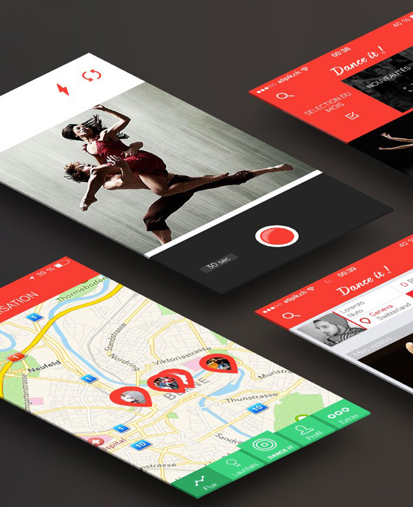 3.Mobile App Design Inspiration – Dance It