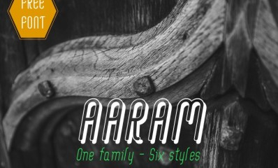 6.Free Font Of The Day  Aaram