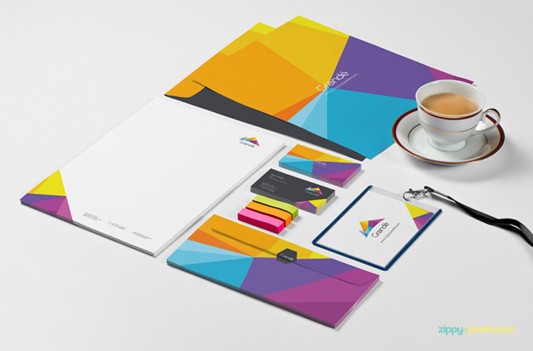 1.Photorealistic Stationery Branding PSD Mockups