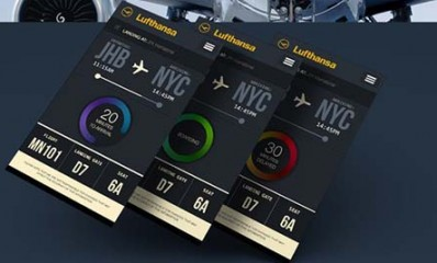 Mobile App Design Inspiration – Lufthansa Flight Tracking app